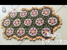 Artes da Desi: Passo a passo Tapete Sextavado de crochê