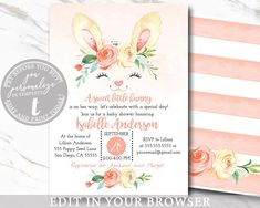 68 Trendy Ideas Baby Shower Invitations For Girls Printable Templates Baby Shower Duck, Boy Baby Shower Themes, Baby Shower Invites For Girl, Baby Boy Shower, Baby Shower Invitations, Online Printing, Etsy Cards, Presents For Girls