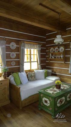 Návrh a realizace dobových interiérů roubenek - roubenkyroubal. Home Decor Furniture, Furniture Makeover, Home Interior Design, Interior Decorating, Brick Wall Decor, Cozy Place, Gazebo, Sweet Home, Home Fashion