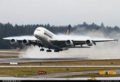 A380 Singapore Airways landing