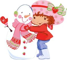 Fresita, Frutillitas, Strawberry Shortcake Strawberry Shortcake Pictures, Strawberry Shortcake Characters, Christmas Images, Christmas Snowman, Betty Boop, Gifs Cute, Mini Gifs, Gifs Disney, Snowman Clipart
