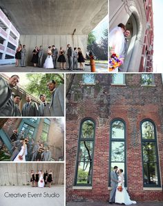 Wedding Party Photos - Kansas City Weddings - Urban Photos - Wedding Party Group Poses  www.creativeeventstudio.com