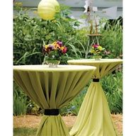 Add cocktail tables around the perimeter of the tent or dance floor.