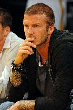 David Beckham wearing Hematite Crystal beads with lucky Chinese money coins