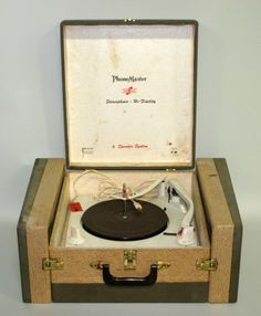 Old School record player.