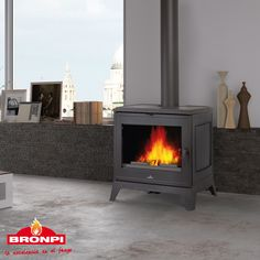 This page explains the wood stove Zamora model of Bronpi brand Preston, Cast Iron Fireplace, Gas Fireplace, Fireplaces, Fireplace Surrounds, Wood Burning, Stove, Home Appliances, Interiors