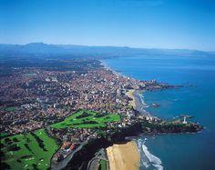 vue aérienne de Biarritz