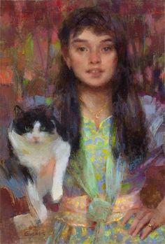 Nancy Guzik, My Friend, 12x18, oil