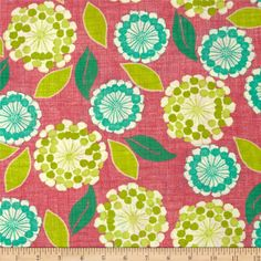 Moda Spring House Anabelle Raspberry - a different floral, kinda fun!