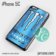 monster energy drink ultra blue Phone case for iPhone 5C and other iPhone devices