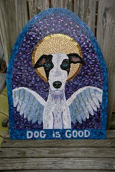 """""""Dog is Good"""" Stained Glass Art by Jill Beninato"""