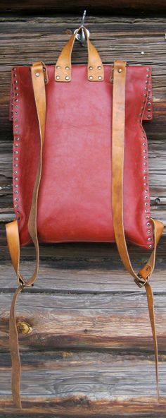 very basic leather backpack [Ah now that looks good.]