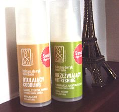 Aromatyczna, bardzo odżywcza pielęgnacja i ochrona dla zmęczonej i suchej skóry dłoni: cytrusy i zioła oraz cytrusy i karmel.