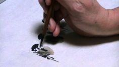 suiboku  スズメの描き方 水墨画家 白浪
