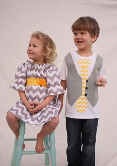 Brother sister chevron set Chevron Easter sibling by haddygrace, $82.00