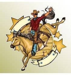 Rodeo Cowboy riding a horse vector Cowboy Horse, Cowboy Art, Western Wild, Western Cowboy, Animal Silhouette, Silhouette Vector, Wild West Cowboys, Horse Harness, Bull Riders