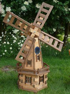 Medium Wooden Garden Windmill With Solar Light! Handmade Ornaments In Garden  U0026 Patio, Garden Ornaments, Windmills U0026 Wind Spinners