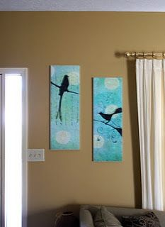 getting ideas on how to make wall art for cheap