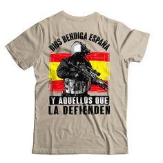 €22.95. Camiseta Dios bendiga España y aquellos que la defienden. Unisex, Mens Tops, T Shirt, Patriots, God Bless You, Crew Neck, T Shirts, Supreme T Shirt, Tee Shirt