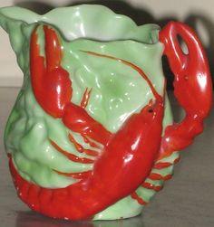Royal Bayreuth Lobster Leaves Creamer Cream Pitcher Antique Porcelain Red | eBay