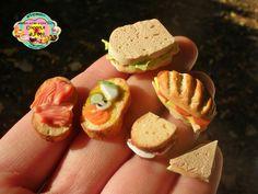 Sandwiches, bruschetta and salmon
