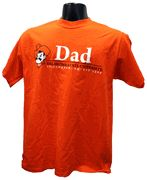 OSU Dad w/Pete T-shirt   Show YOUR pride in this 100%cotton t-shirt. Features Pistol Pete with an Oklahoma State bar design.