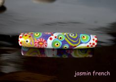 °° VALERIE °° big tube lampwork bead by jasmin french