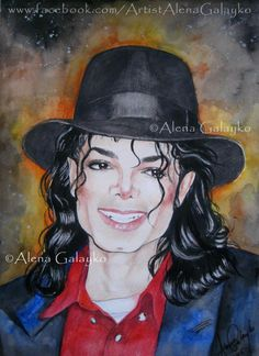Michael Jackson - Your Smile Shines by AlenaGalayko on DeviantArt Michael Jackson Drawings, Michael Jackson Bad Era, Michelangelo, Watercolor Portrait Tutorial, Michael Jackson Neverland, Picasso, Bob Marley Pictures, Smile Drawing, Royal Art