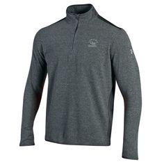 "Infrared Quarter Zip  Under Armour fleece quarter zip in gray with embroidered ""UMary Marauders"" and interlocking UM logo.  Item: 2002633 Item Option:  M-XL Price: $79.99"
