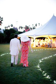 a walkway to reception heaven  Photography by weddingsbysashagulish.com, Planning by nouveauevents.com, Decor by arrangementsdesign.com