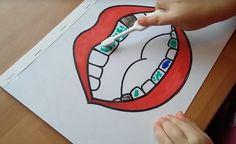DIY Fun way to show children the importance of brushing! TUTORIAL: https://www.youtube.com/watch?v=a9uyn3q1zaQ&feature=youtu.be