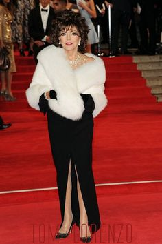 """Joan Collins attends the Royal World Premiere of """"Spectre"""" at the Royal Albert Hall on October in London"""