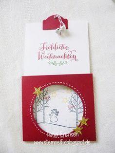 Stempelfix: Winterliche Weihnachtsgrüße - Ziehkarte mit Anleitung