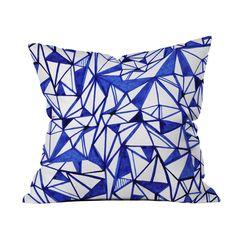 Blue and White Origami Pillow | dotandbo.com