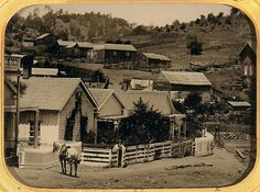 ambrotype of a California gold mining town ca 1860 - Metropolitan Museum of Art Photography Collection