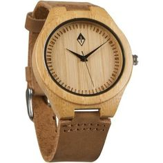This bamboo watch that has a leather strap. | 23 Things You Should Be Buying From The Men's Section