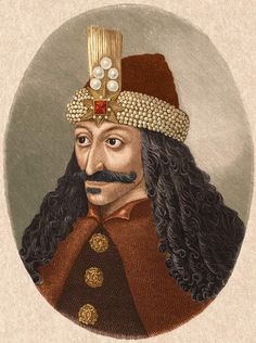 Circa 1450, Portrait of Vlad Tepes 'Vlad the Impaler'(c 1431-1476), from a painting in Castle Ambras in the Tyrol.