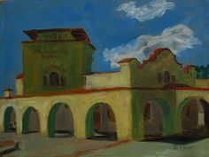 Special Price for a limited time. Train Station Raton NM  ORIGINAL Oil PAINTING  Framed