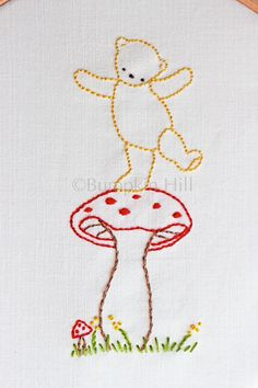Hand Embroidery PDF Pattern Teddy Bear Picnic by bumpkinhill