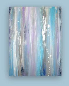 Peinture abstraite Acrylique originale gris et par OraBirenbaumArt