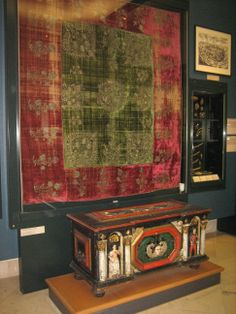 Tapestry in the Hungarian National Museum (Hungarian: Magyar Nemzeti Múzeum) was founded in 1802 and is the national museum for the history, art and archaeology of Hungary, including areas not within Hungary's modern borders such as Transylvania.  Budapest, Hungary