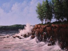 Coastal Crash - Acrylic on Canvas - Tim Gagnon Studio offers a wide variety of online and DVD instructional art lessons in acrylic and oil. He has over 7000 students from around the world and his paintings are collected in over 30 different countries. Visit www.timgagnon.com for more information!