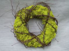 Moss Wreath Wrapped in Twigs by twigs4u on Etsy- My new front door spring wreath :)