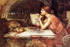 The Athenaeum - Sketch of Circe (John William Waterhouse - circa 1911-1914)