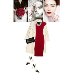 Winter Wedding by slavicabojanovic on Polyvore featuring moda, Victoria Beckham, ADAM, Jimmy Choo, Salvatore Ferragamo, Gabriele Frantzen and winterwedding