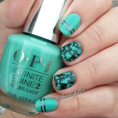 Water Spotted Nails  #OPI OPI Inifinite Shine