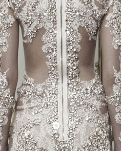 Beautiful crystal embellished lace dress - luxury fashion details // Givenchy…