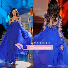 Wholesale cheap royal blue prom dresses online, 2014 spring summer - Find best 2014 custom made royal blue scoop neckline long sleeve zuhair murad formal evening dresses With sequins crystle hot party prom dress gowns at discount prices from Chinese evening dresses supplier on DHgate.com.