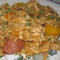 Chicken Bog Allrecipes.com...I don't know about the Italian seasoning but the rest of this recipe sounds like a true low country chicken bog.
