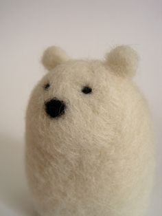 Needle Felted Polar Bear by Woolnimals (Etsy.com)